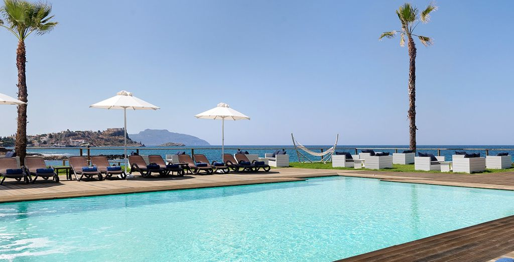 Soak up the rays beside the pool