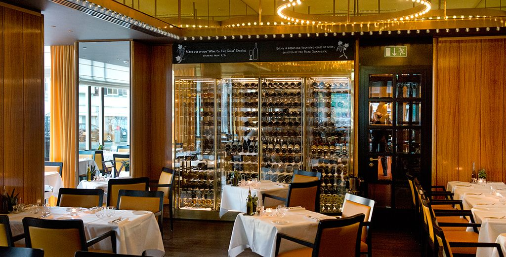 Be tempted by the wide selection of wines at the restaurant