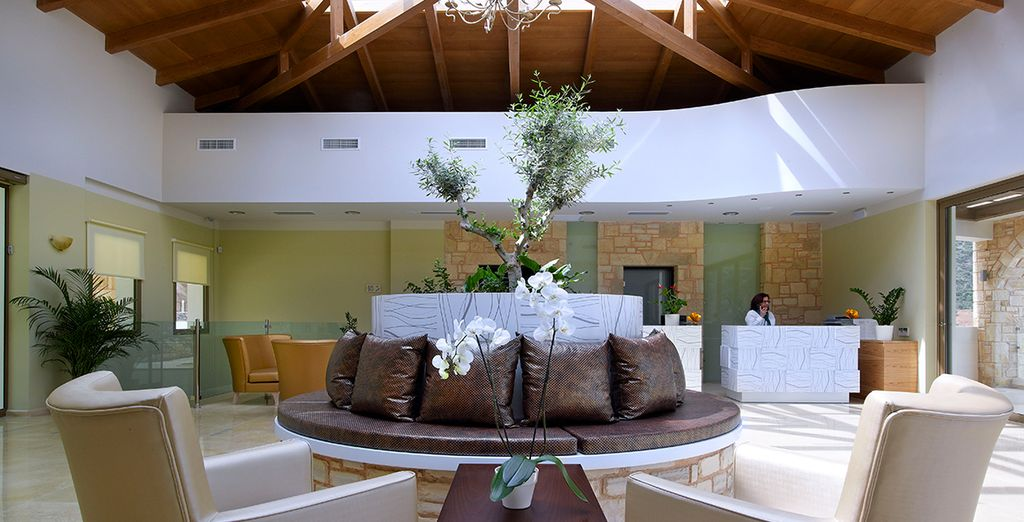 Feel at home in the light-filled lobby