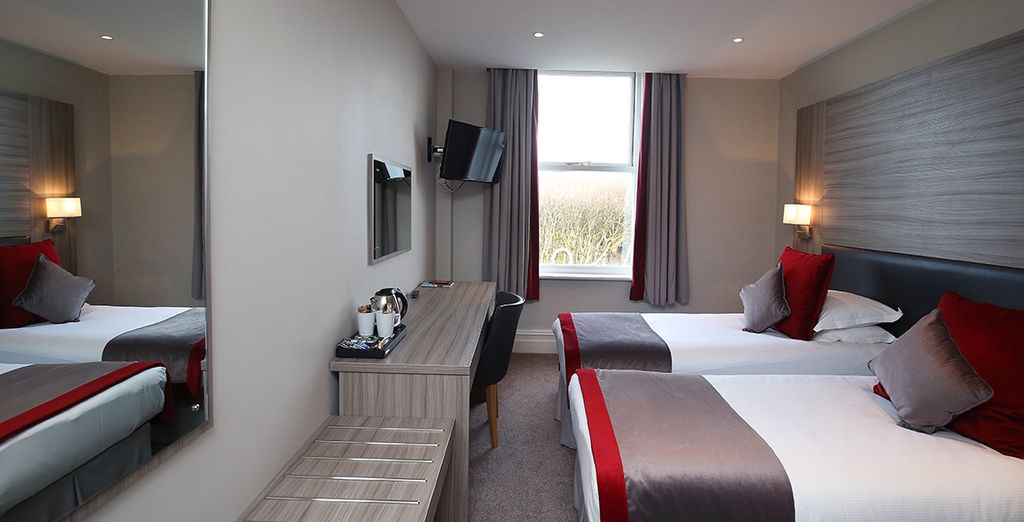 Our members will stay in a cosy and refined Double Room