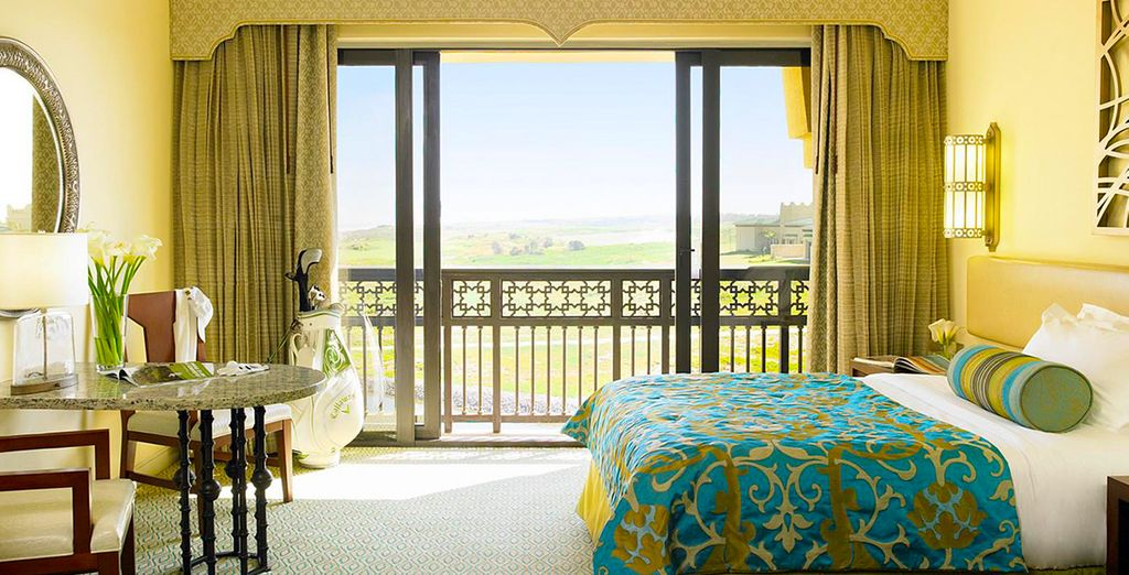 Choose an elegant room with partial ocean views