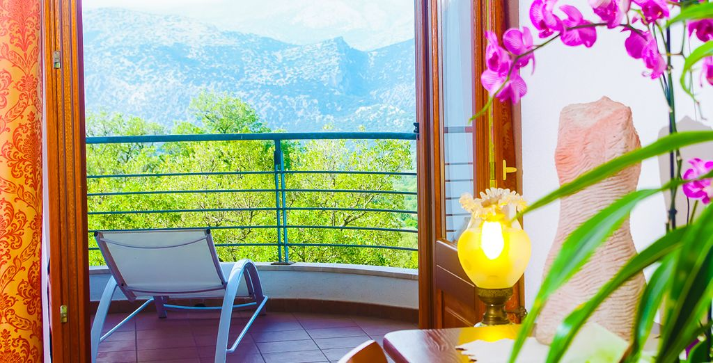 Where you'll awaken to lovely views of the surroundings