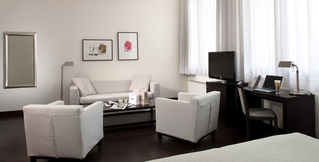 Guests can upgrade rooms, to an even more spacious Junior Suite