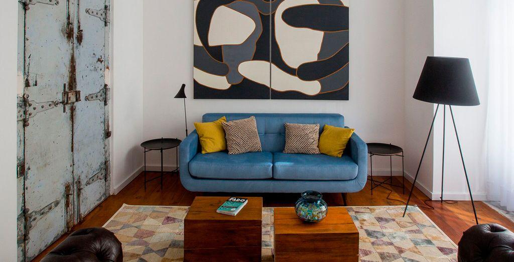 Strikingly designed suites