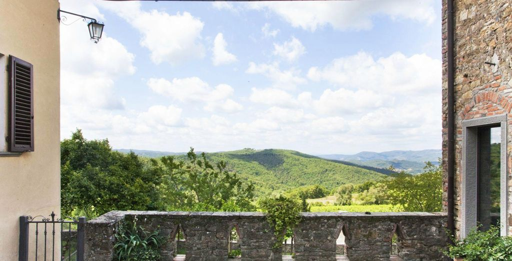 Take in the breathtaking view of Tuscany's famed landscape