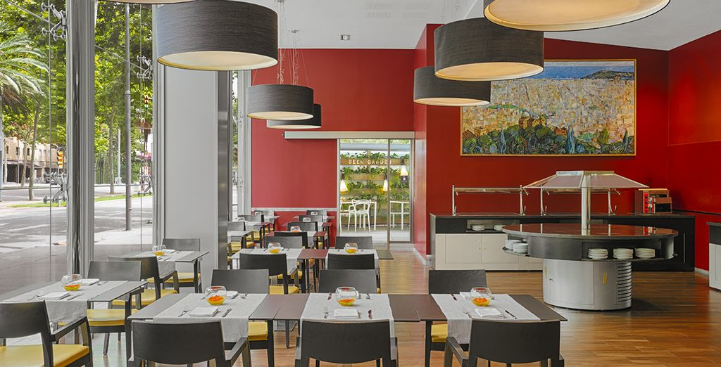 Taste the local flavours in the stylish restaurant