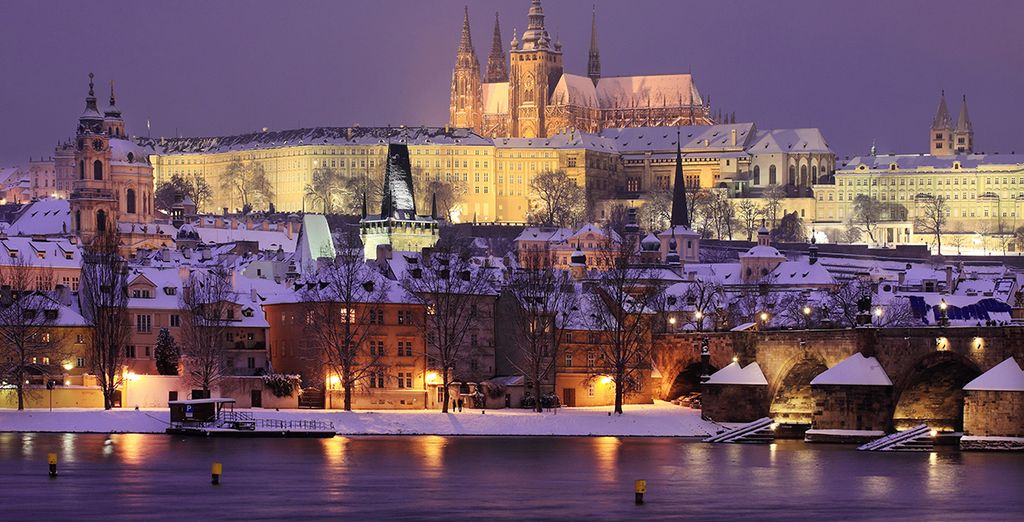 Explore Prague's winding cobbled streets....