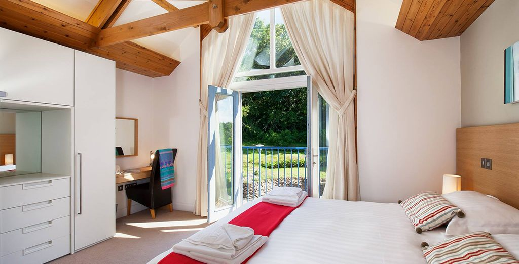These welcoming cottages have 2 bedrooms