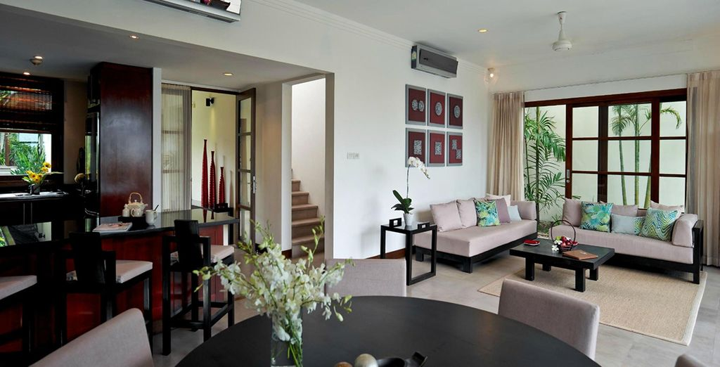 Lounge in your open plan living and dining area
