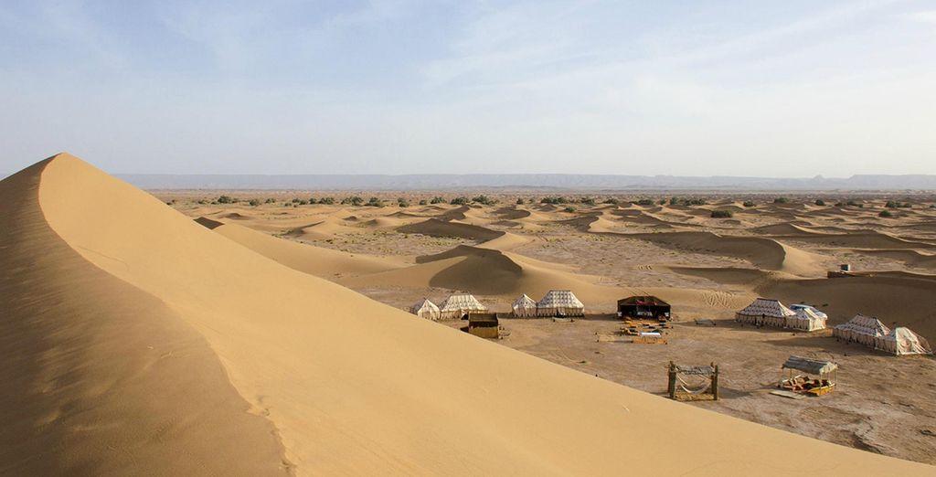Drive ot Sahara desert and Chegaga, the biggest sand dunes in Morocco