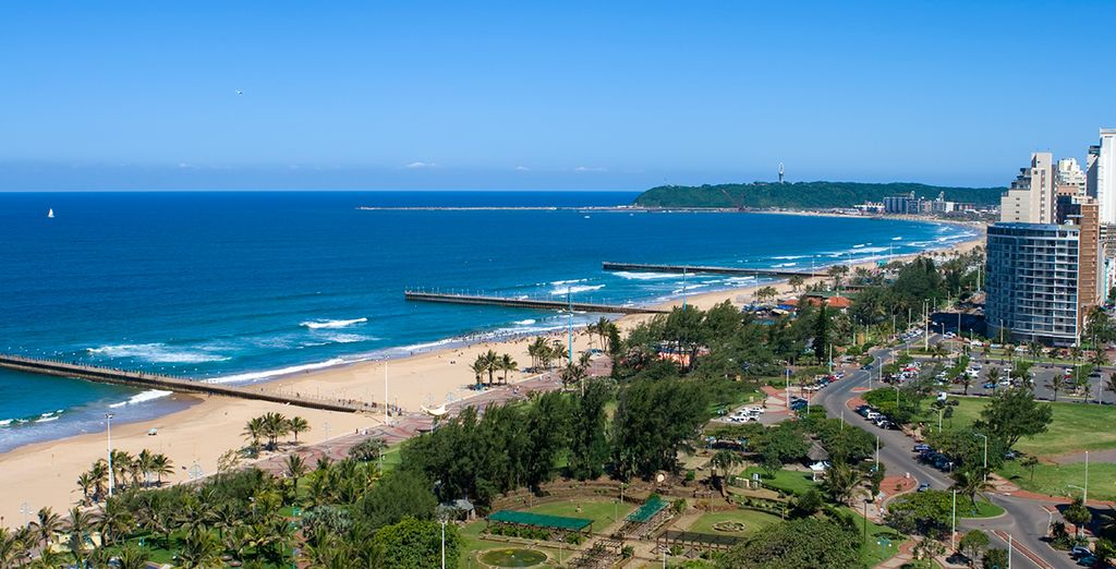 End your trip on Durban's spectacular beaches
