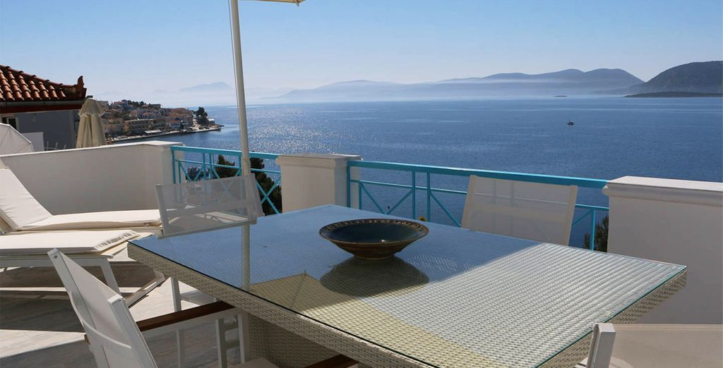 And of course, stunning views over the sparkling sea!