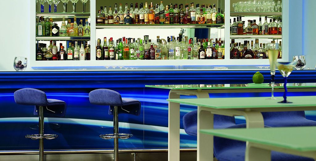 The bar is a perfect spot to unwind after a day of sightseeing