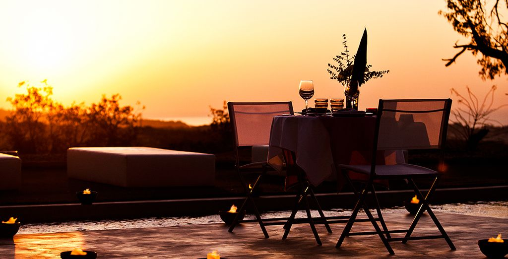 Where a romantic meal is the perfect way to close the day