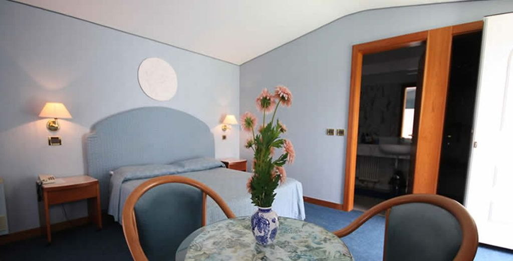 And your room which is completed by a relaxing balcony
