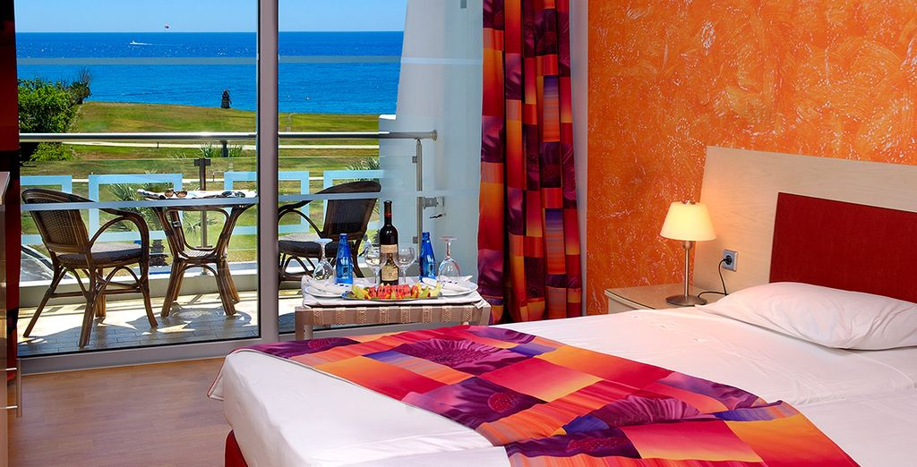 Enjoy glorious Sea Views from your room
