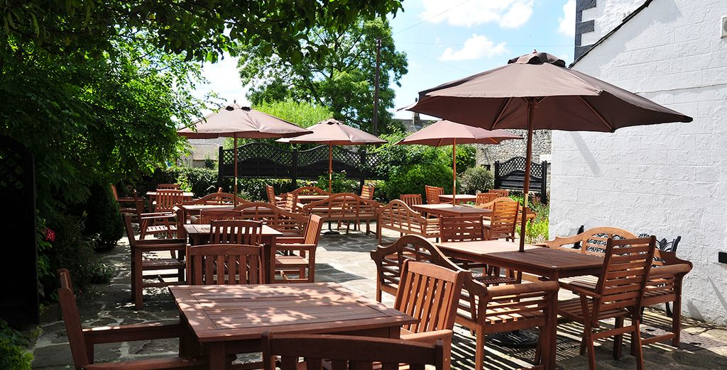 Take advantage of the beer garden on sunny days!
