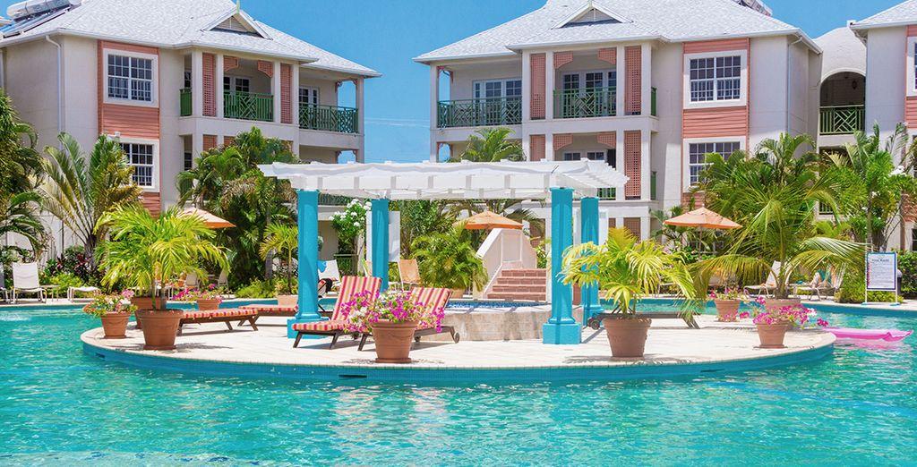 Staying at the beautiful 4* Bay Garden Resort