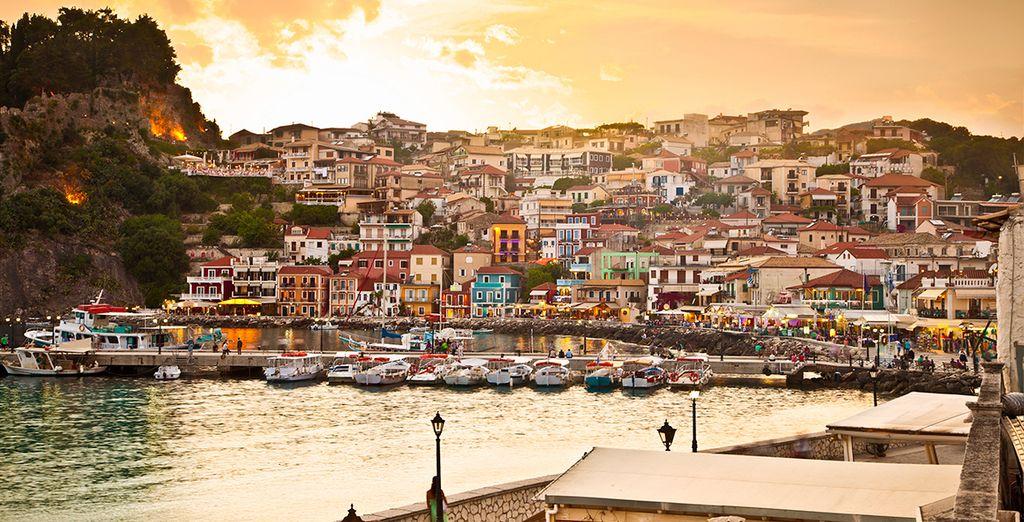 In beautiful Parga, Greece