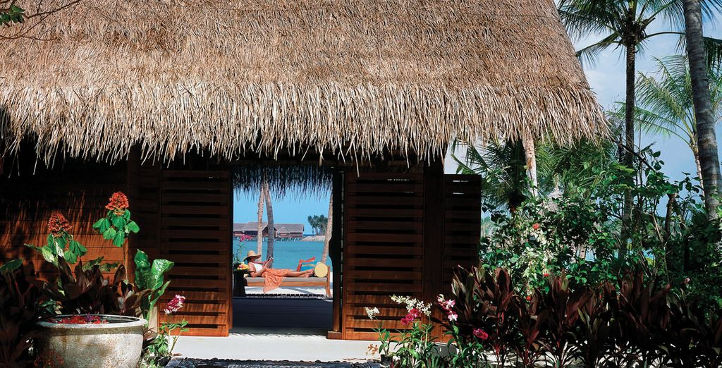 At your amazing beach villa