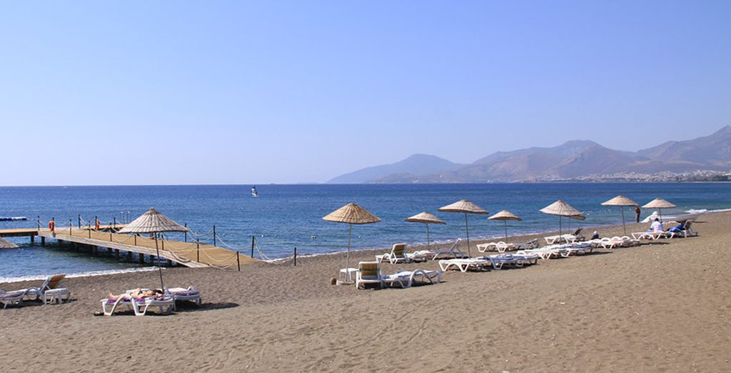 Make your way down the beach and appreciate Turkey's coastline