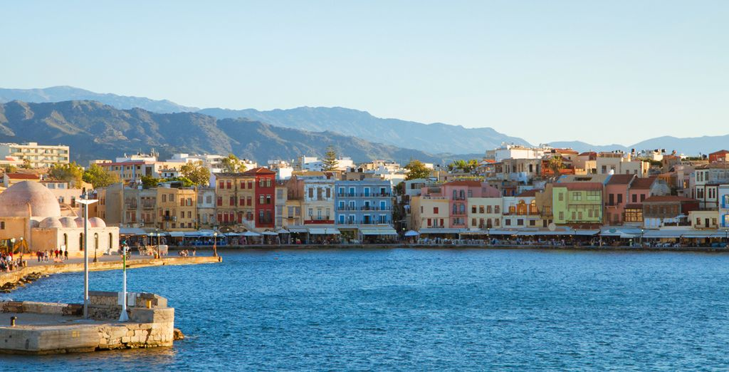Or head out and stroll along Chania's Venetian-style harbour