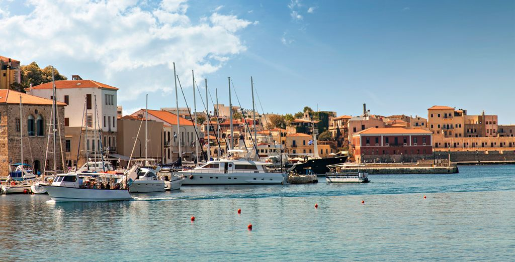Close to the city of Chania