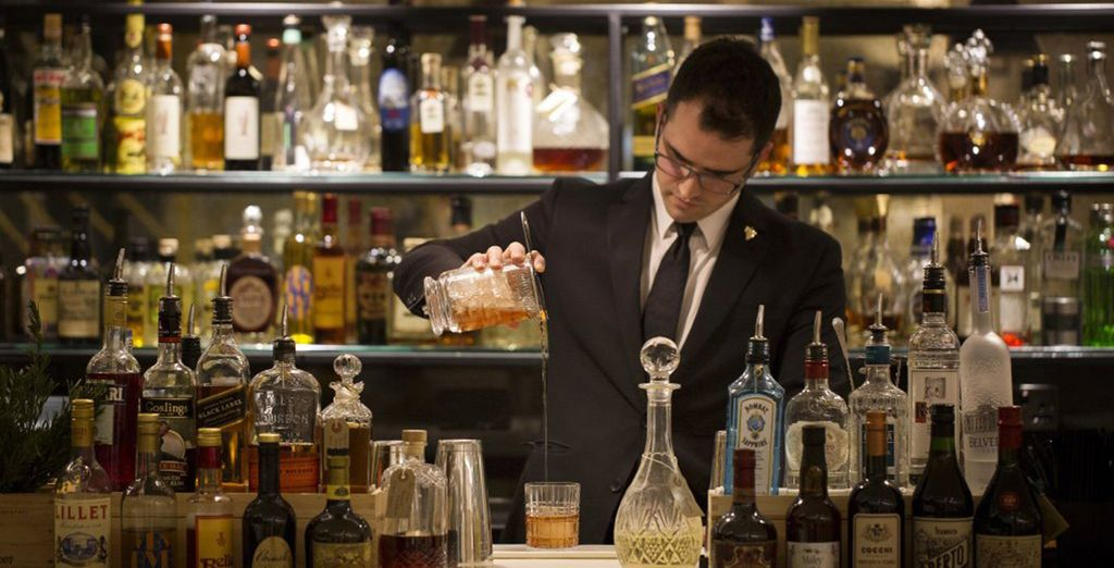 Enjoy an expertly crafted cocktail