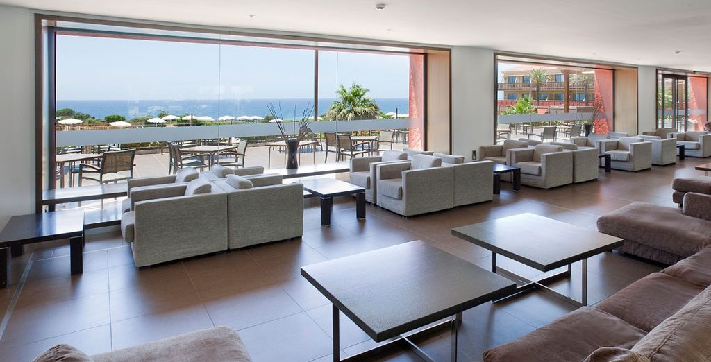 Gaze out over the sea from the lobby
