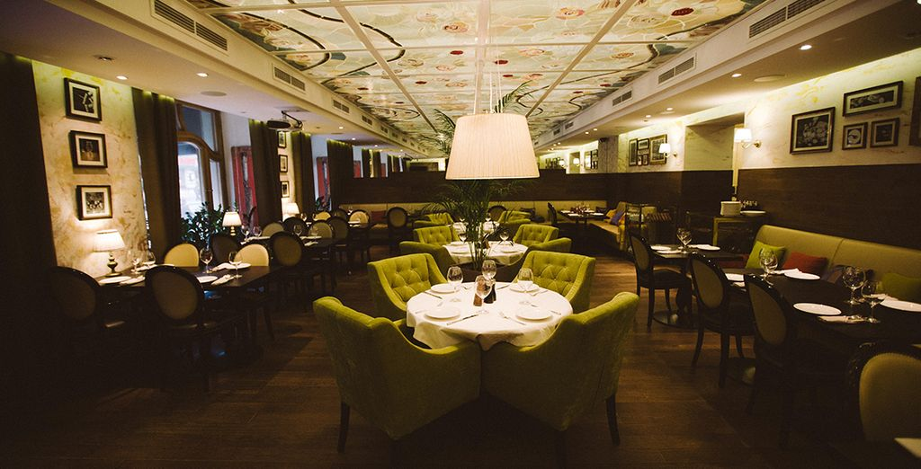 And dine in stylish surroundings