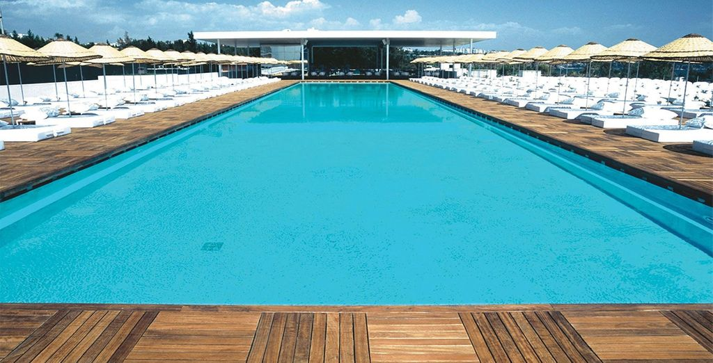 Adults can lounge by the Olympic sized pool