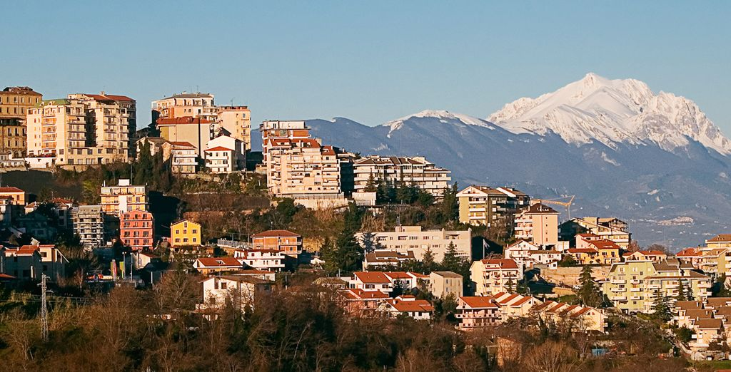 And Chieti, backed by the Gran Sasso Mountain