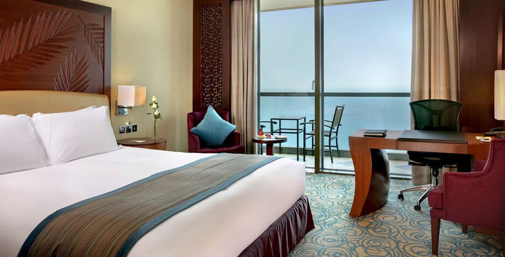 Your room has panoramic sea views