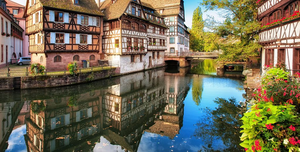 A river cruise in the city of Strasbourg