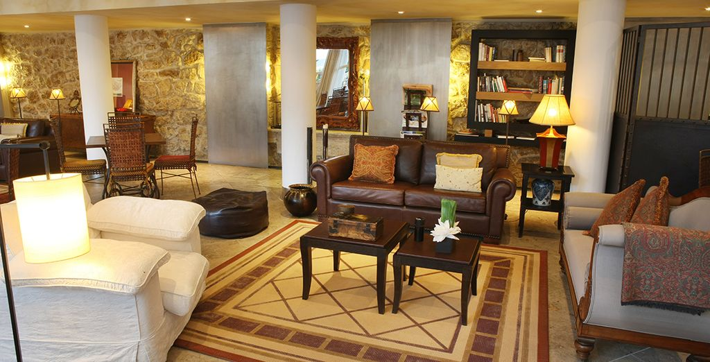 Make your way through the lobby to your room...