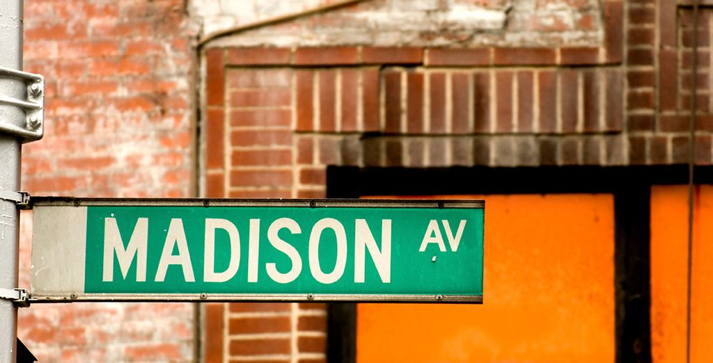 Just of the iconic Madison Avenue