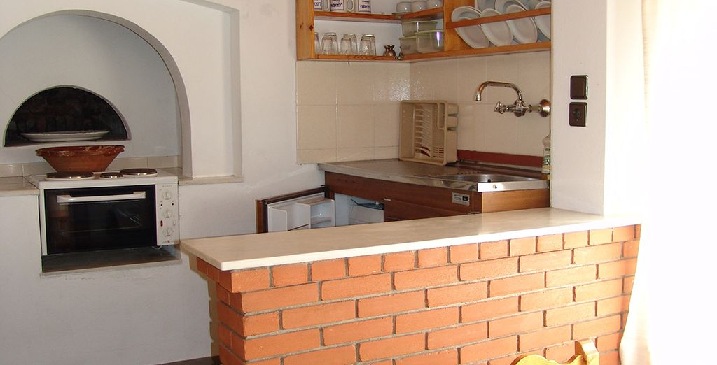 Enjoy cooking in your own kitchen - it has its own original bread oven