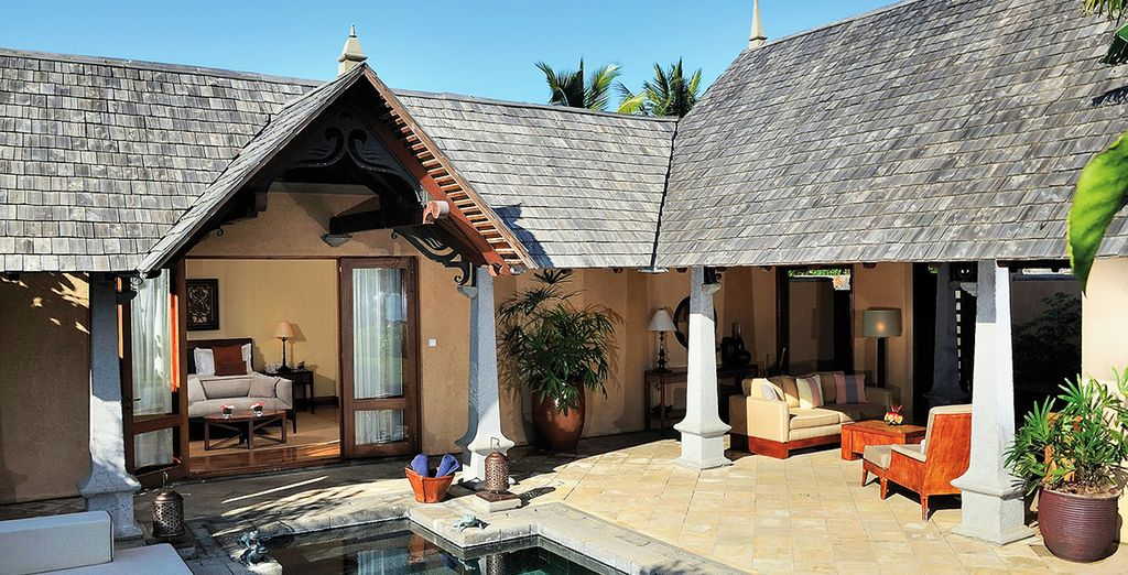 And featuring a private plunge pool