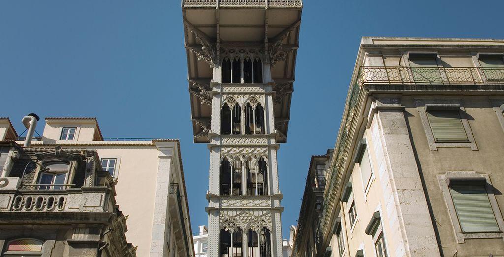 Visit historic sights like Elevador de Santa Justa