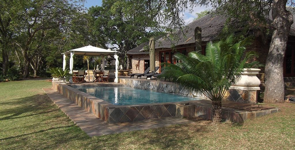 Where you will stay in a luxurious lodge