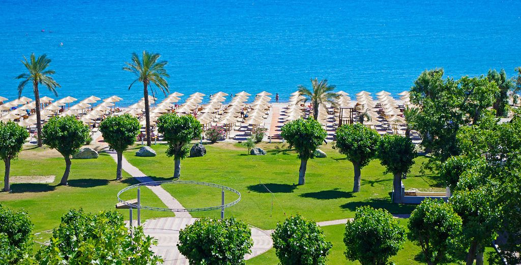 Situated on the golden shores of the Aegean Sea