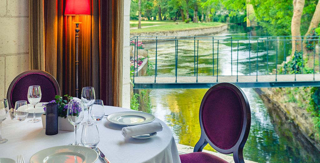 Where every table has a river view