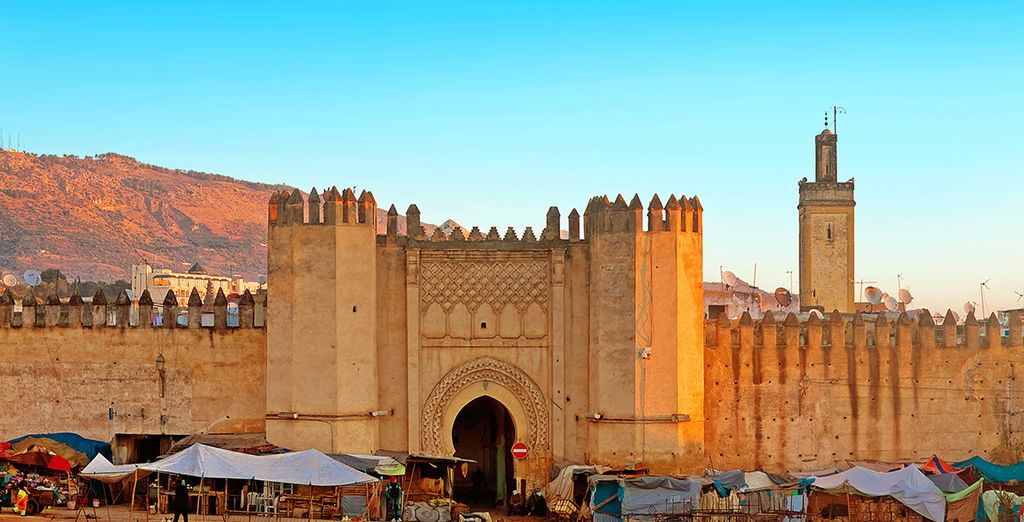 Or book an excursions to ancient Fes and its historic Medina (60km)