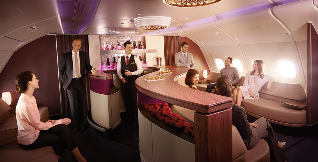 Choose from economy or business class seats
