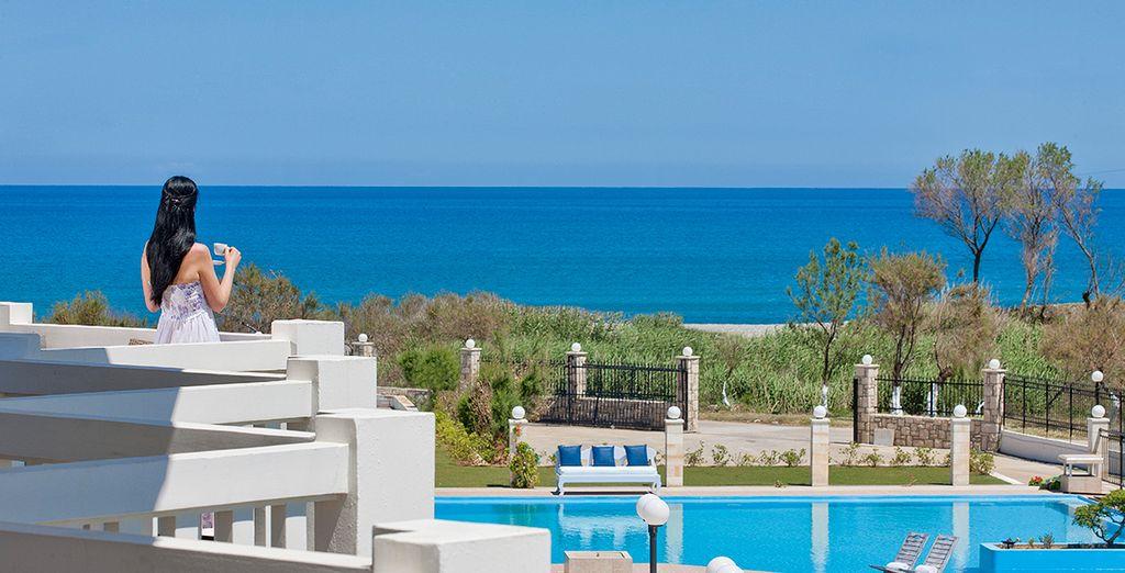 Right on the Cretan shore