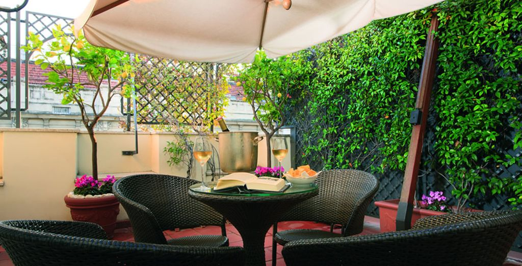 Why not take some time out on the hotel's terrace?