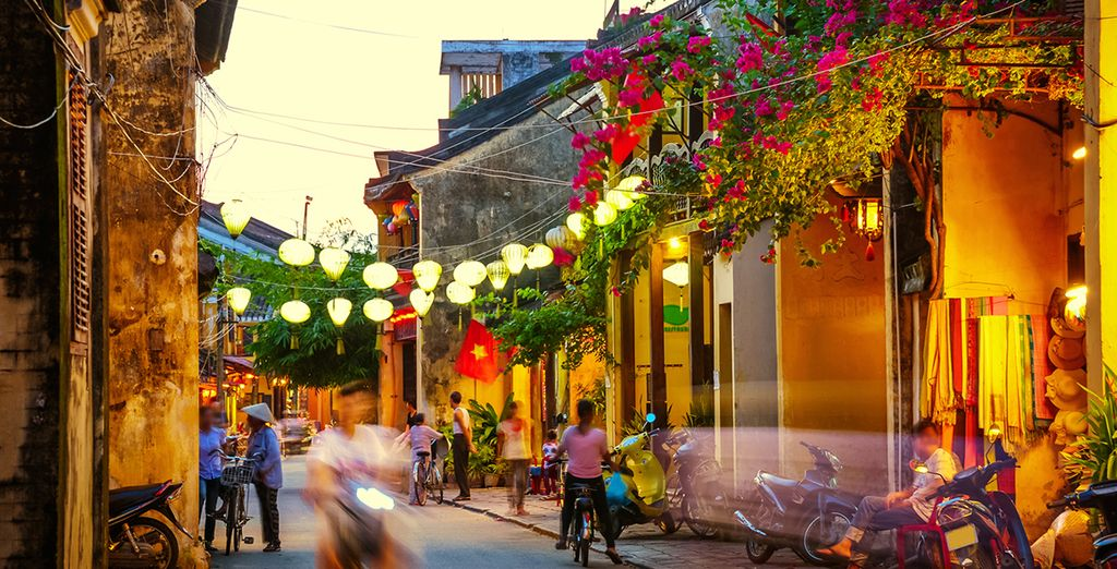 Relax in pretty Hoi An, famed for its colourful lanterns
