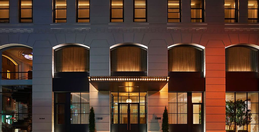 A glamorous hotel in Soho