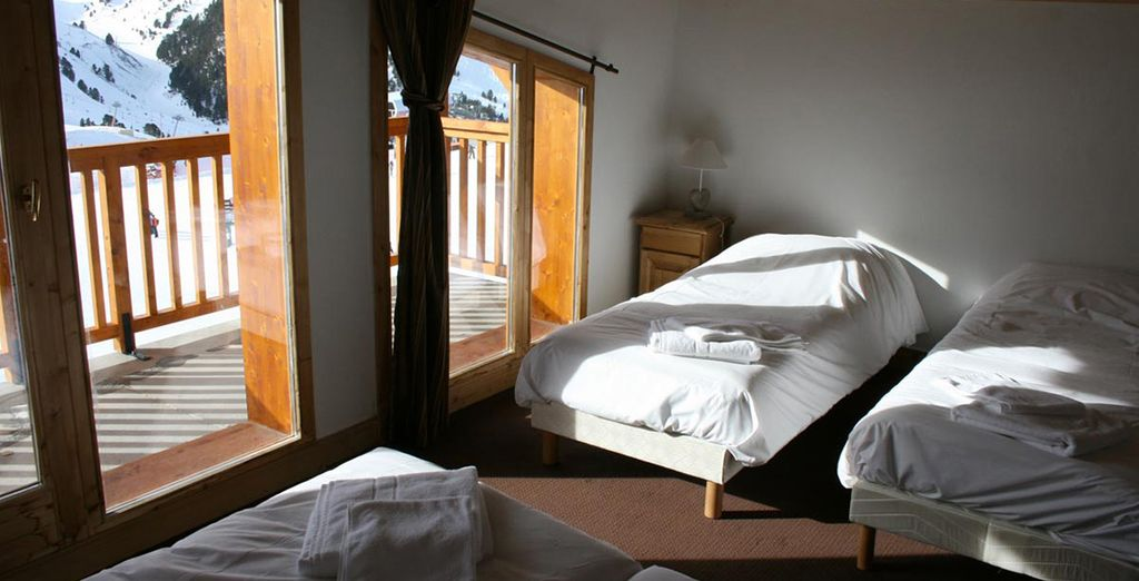 All apartments boast cosy bedrooms and soothing decor