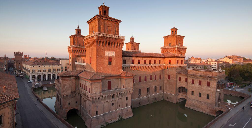 See the medieval castles of Ferrara